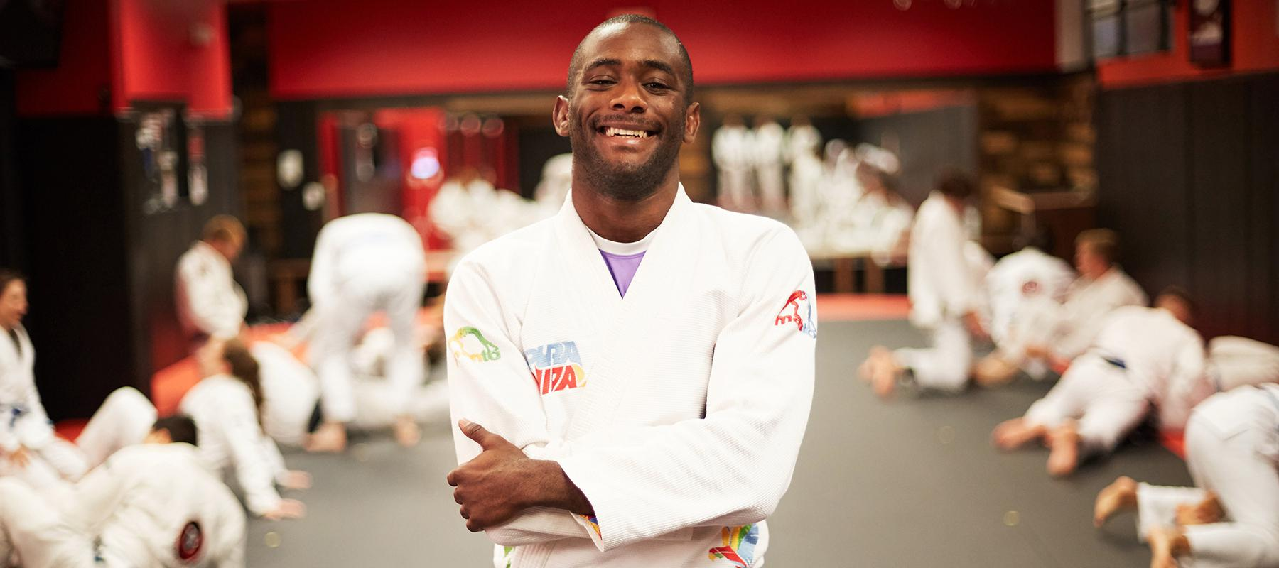 Elvin Ramirez In His Jiu-Jitsu Uniform Smiling
